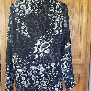 Trouve Tops - Trouve animal print silk blouse xs